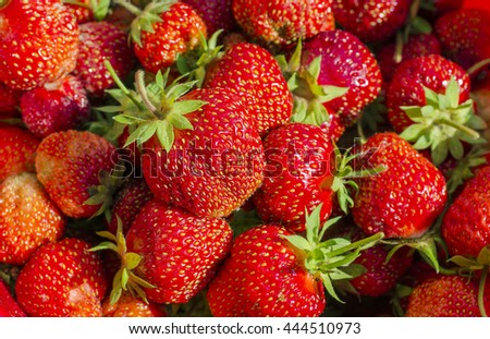 background of natural and fresh ripe strawberries