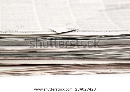 background of newspapers closeup - stock photo