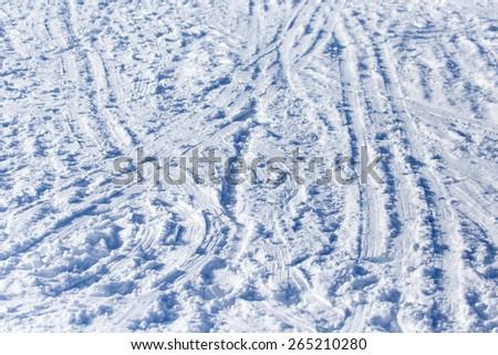 Background of off-piste ski slope - stock photo