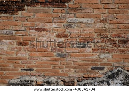 Background of old brick wall texture. Texture
