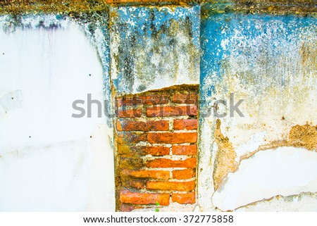 Background of old brick wall, Thailand. - stock photo