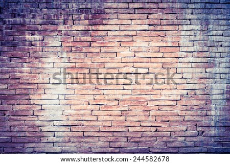 Background of old grunge brick wall texture - stock photo