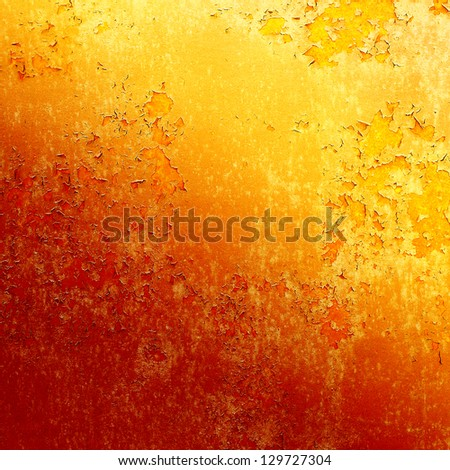 Background of old metal painted red with traces of rust and paint - stock photo