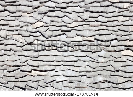 Background of old roof made �¢??�¢??of small stone. - stock photo