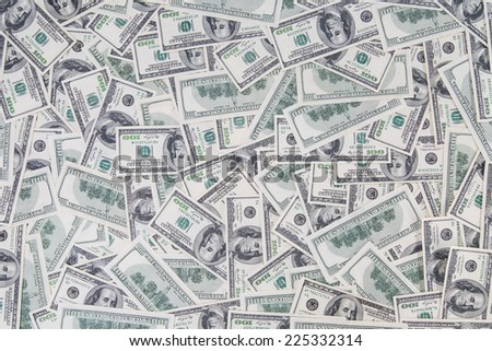 Background of old styled hundred dollar bills