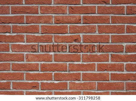 Background of old vintage brick wall. Brick wall texture.  - stock photo