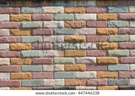 Background of old vintage brick wall,brick wall texture background material of industry building construction. - stock photo