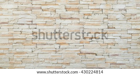 Background of old vintage orange brick wall, new paint old brick wall, old stone Cladding wall, strong brick wall, flat brick stack wall, Rough brick wall for background texture - stock photo