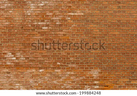 Background of old vintage red brick wall, texture - stock photo