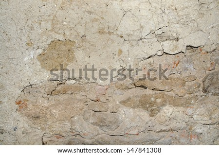 Background of old wall in castle