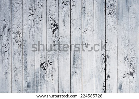 Background of old worn boards white. - stock photo