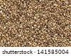background of organic dried hemp seeds - stock photo