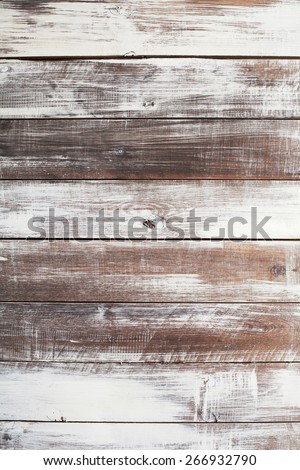 Background of painted brown old natural wood planks - stock photo
