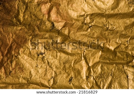 background of paper in gold with cool texture - stock photo