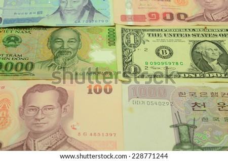 Background of paper money. - stock photo