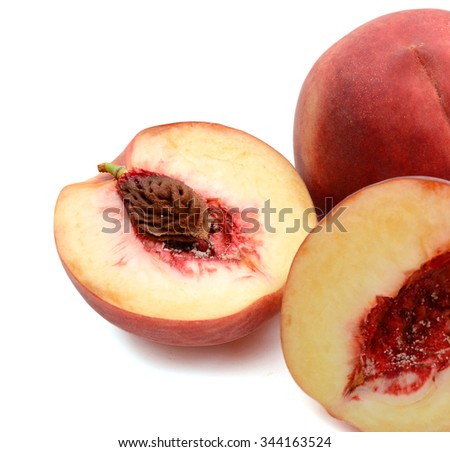 background of peach isolated on white