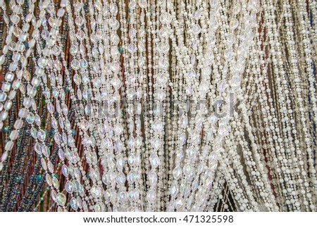 background of pearl beads