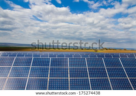 background of photovoltaic modules for renewable energy