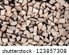 background of pine logs - stock photo