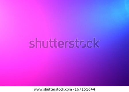 Background of pink and blue color lights shining through fog - stock photo