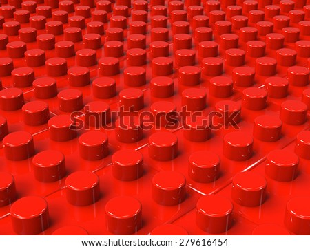 Background of plastic construction block - stock photo