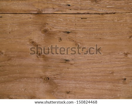 Background of plywood with grain and knots - stock photo