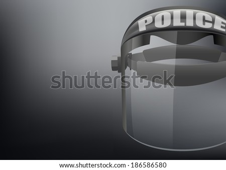 Background of Police protect mask vector. Safe object. Goggles glass symbol of defense and protection.