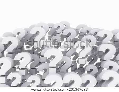 Background of question marks - stock photo