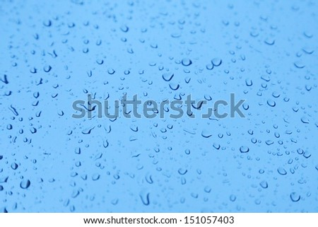 background of rain drop on the glass