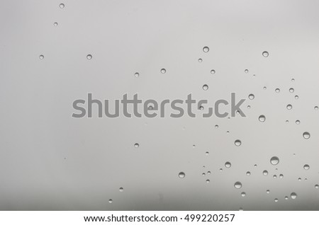 Background of raindrops on the window