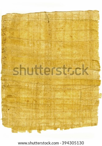 background of real papyrus on white