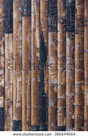 Background of reclaimed timber for a modern rustic look - stock photo