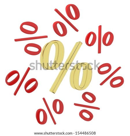 Background of red and gold pBackground of red and gold percent. Design templateercent. Design template - stock photo