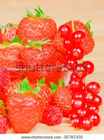 Background of red berry fruit