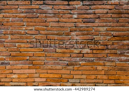 Background of red brick wall pattern