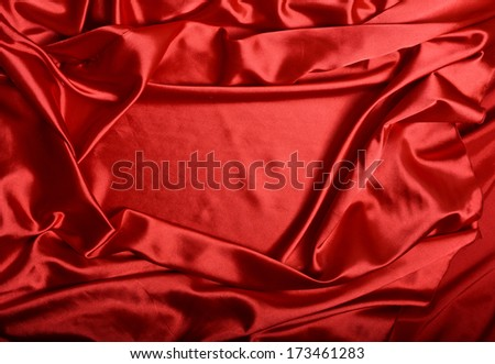 background of red silk with a place for text