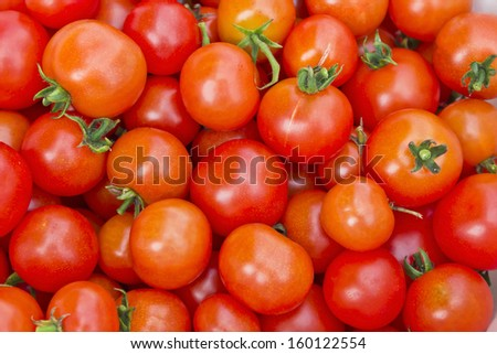 background of red  tomatoes - stock photo