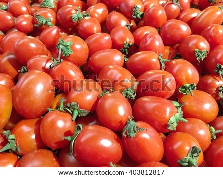 background of red tomatoes