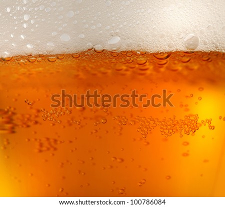background of refreshing beer / texture - stock photo