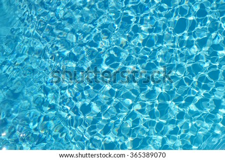 Background of rippled pattern of clean water in blue swimming po
