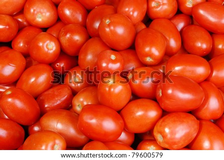 Background of Roma tomatoes - stock photo
