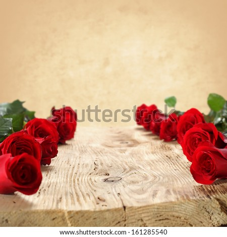 background of roses and wallpaper