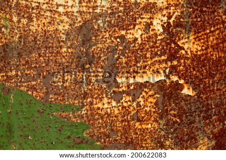 Background of rusty metal texture