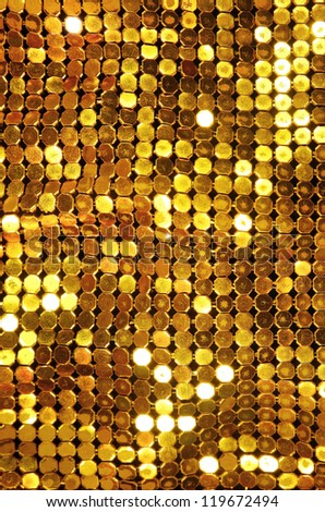 Background of shining old golden mesh - stock photo