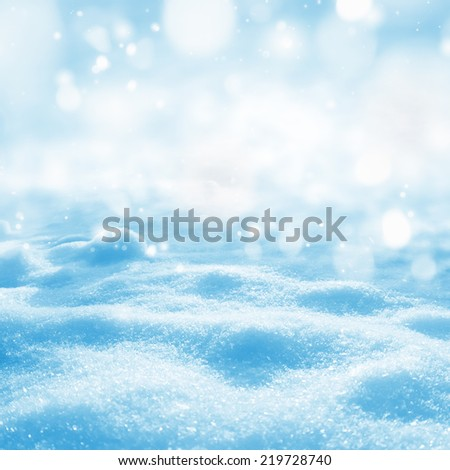 Background of shining snow - stock photo