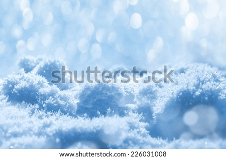 Background of shining snow - stock photo