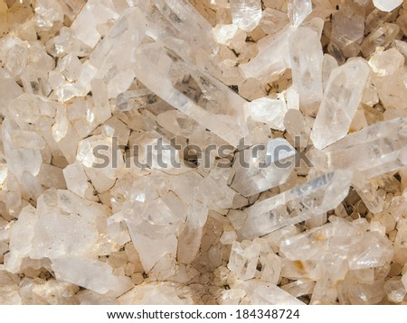 Background of Shiny Rocks and Crystals - stock photo