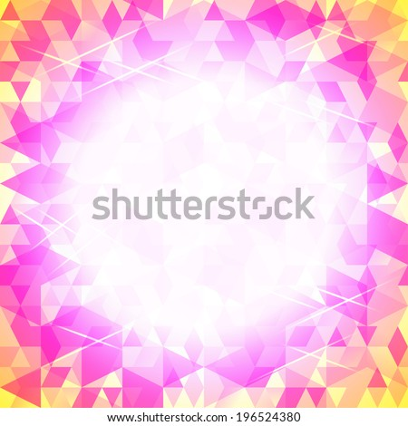 background of simple geometrical shapes - stock photo