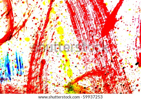 background of splashing of different colors on a white background