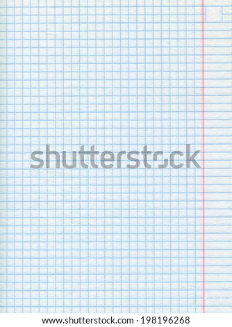 Background of squared sheet of paper - close-up